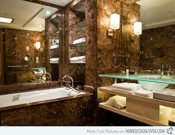 18 sophisticated brown bathroom ideas - Bathroom Decorating Ideas Brown Walls