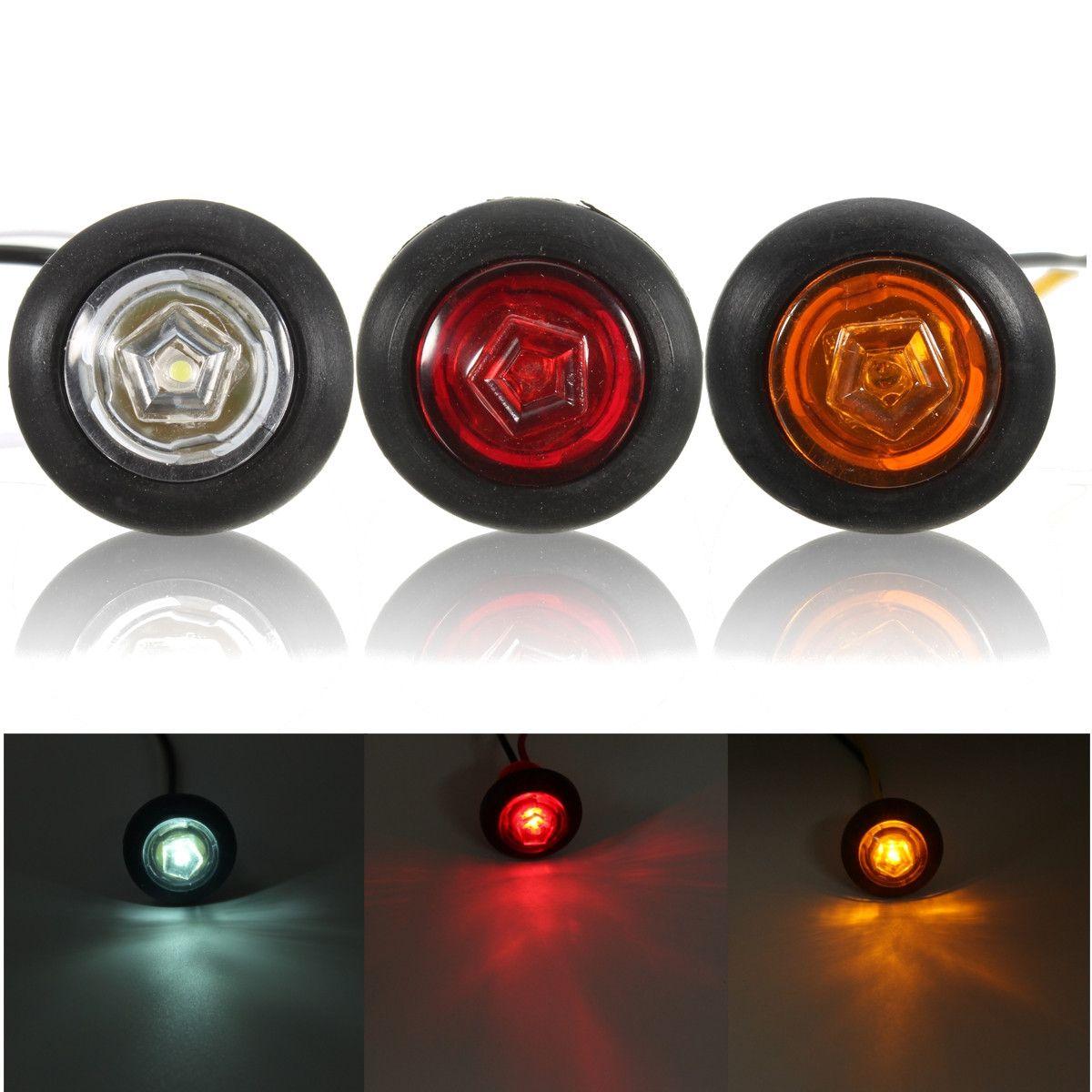 Universal Amber Red White Side Marker Light Led Lamp For 12v 24v Car Van Truck Trailer Led Lamp Red And White Led Lights