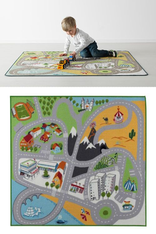 10 alfombras infantiles para jugar 2 alfombra tapete de - Alfombra circuito coches ...