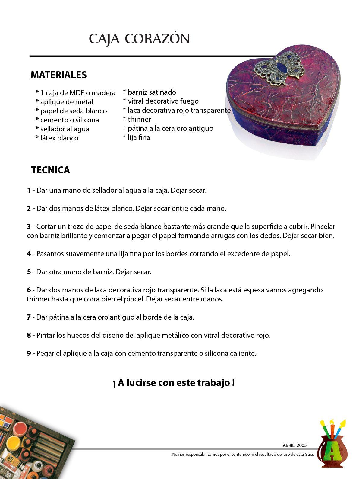 2005/04 - Consejo del Mes - Abril 2005 - Caja Corazón