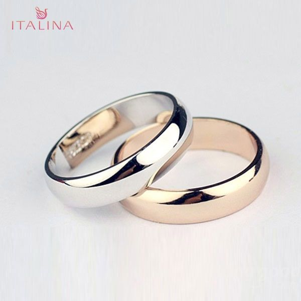 Italina Metal Polished Finger Ring 18K Gold Platinum Plated