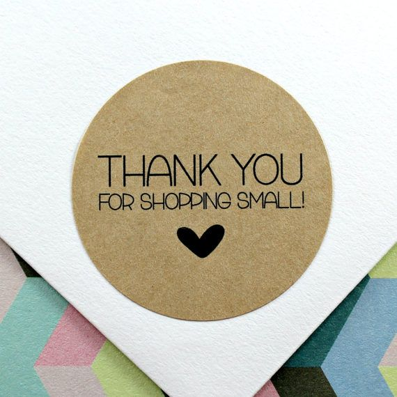 d6721c2c20e65 Thank You Stickers Etsy Shop Stickers Small Business | Soap Making ...