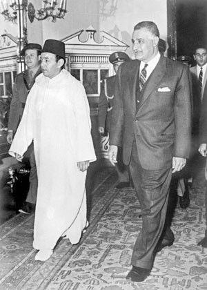 الزعـيـــــــــم جمال عبد الناصر و الملك الحسن الثاني Gamal Abdel Nasser Egypt History