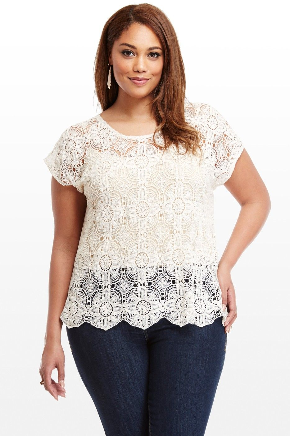 31f0f606d32d Jasmine Crochet Top Curvy Outfits, Plus Size Outfits, Fashion To Figure,  Trendy Plus