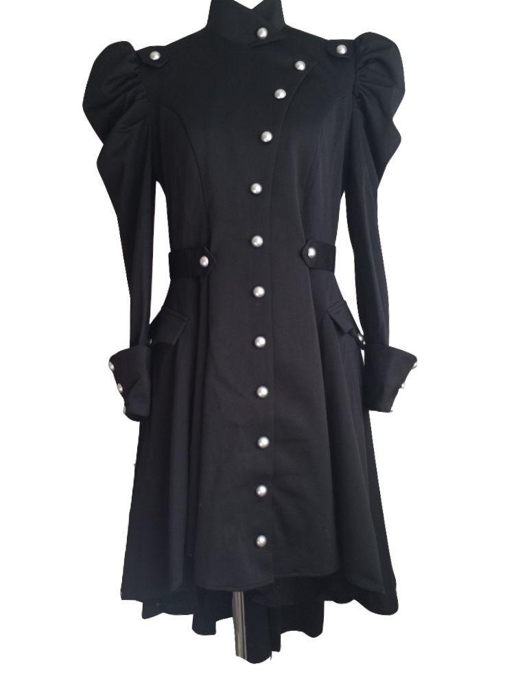 039901835e5 Black Steampunk Gothic Victorian Asymmetric Coat Design by Amber Middaugh