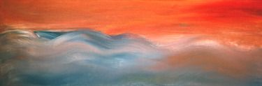 """Saatchi Online Artist Kelly Lynn Kimball; Painting, """"Oceanview"""" #art #abstract #contemporary #ocean www.lynncreations.com"""