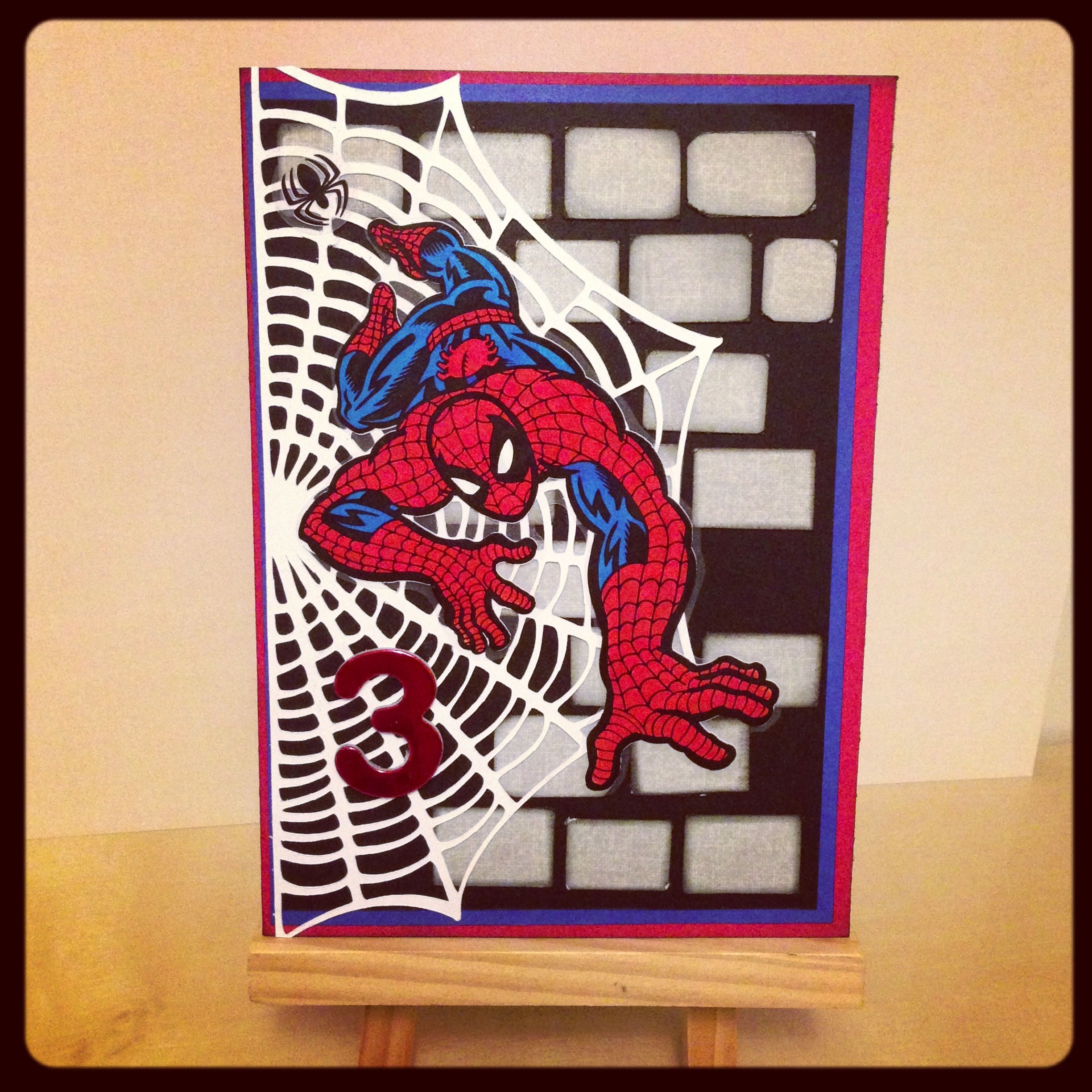 spiderman birthday card front cricut spiderman projects pinterest cards spiderman cards and cricut