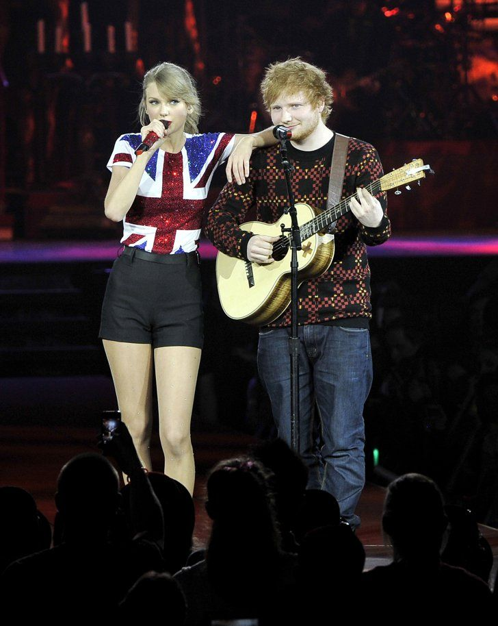 Pin for Later: 18 Times Taylor Swift and Ed Sheeran Fully Embodied Your #FriendshipGoals When They Won Over Fans on Taylor's Red Tour Ed and Taylor hit the stage in London together in February 2014 to kick off the European leg of her tour.