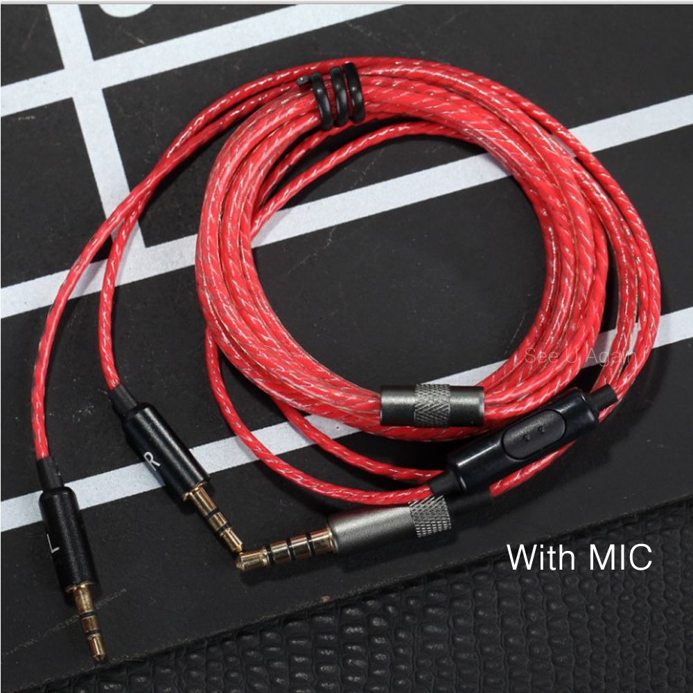 HIFI Earphone Cable With Mic 1.2m Audio Cable Headphone Repair ...