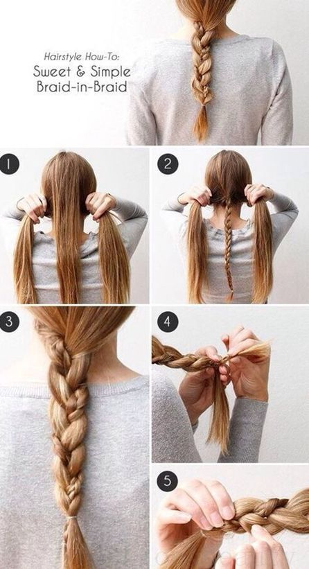 Easy Cute Hairstyles Gorgeous Braid In Braid  Hairstyles  Pinterest  Girl Hair Hair Makeup And