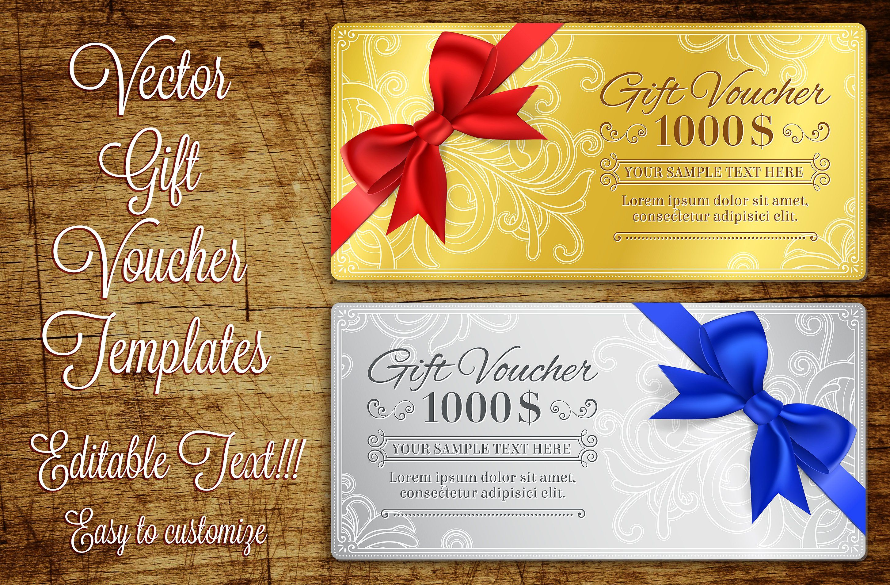 Present Voucher Template Gift Voucher Template  Template