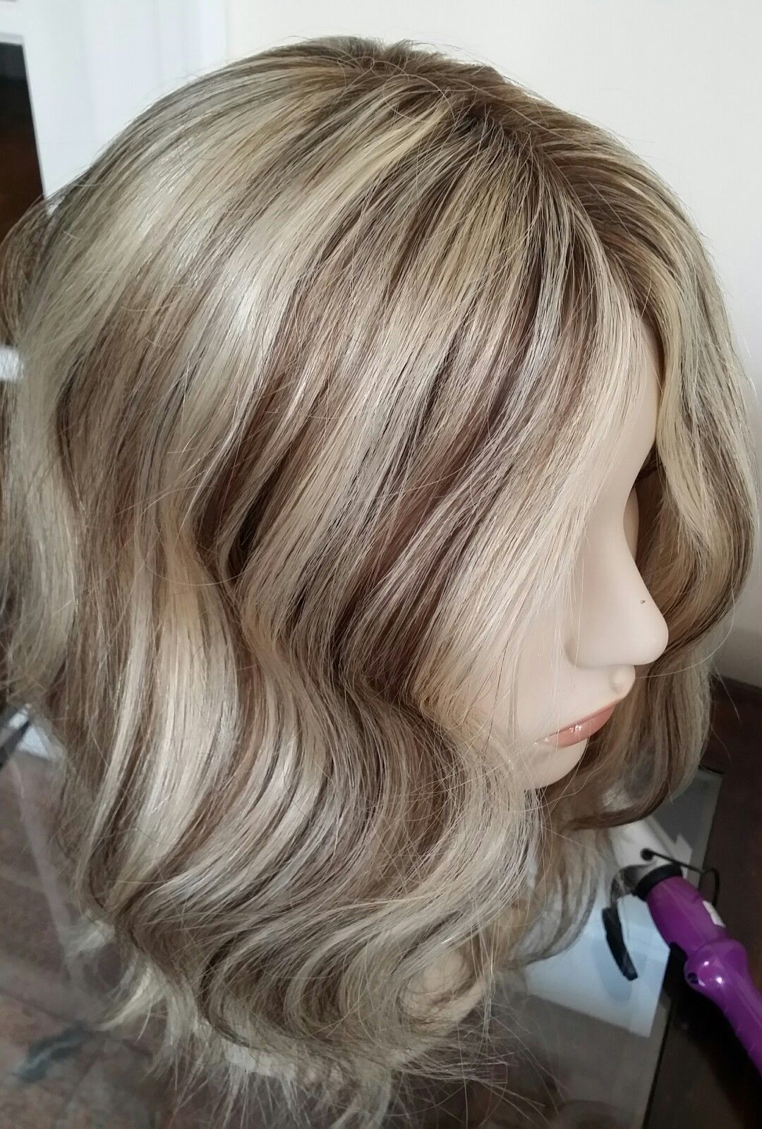 964d7f82ce Mixed Blonde Color,With Lowlights hair topper,How to deal with hair loss or  thinning hair among women,the best hair loss remedy,dark black color loose  wavy ...