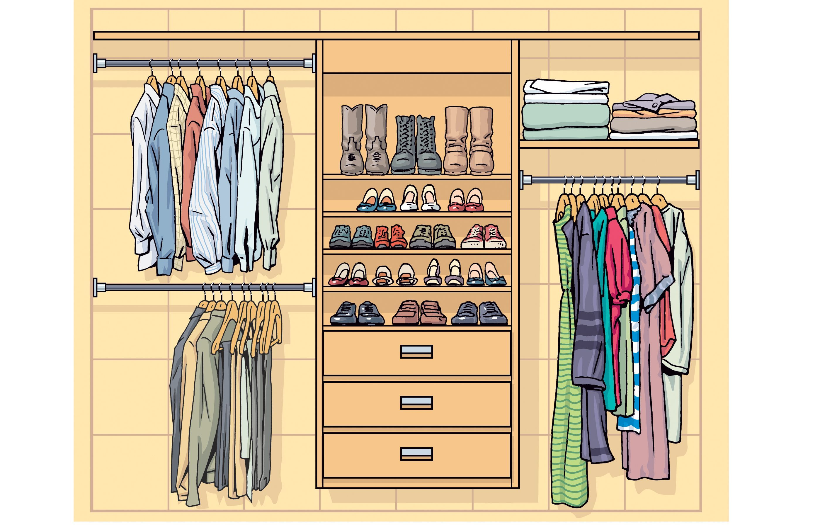 The Ideal Reach In Closet We Re Not Talking Walk Ins Here Is 6 To 8 Feet Wide And 24 To 30 Inches Deep Standard Dou Closet Remodel Closet Layout Closet Redo