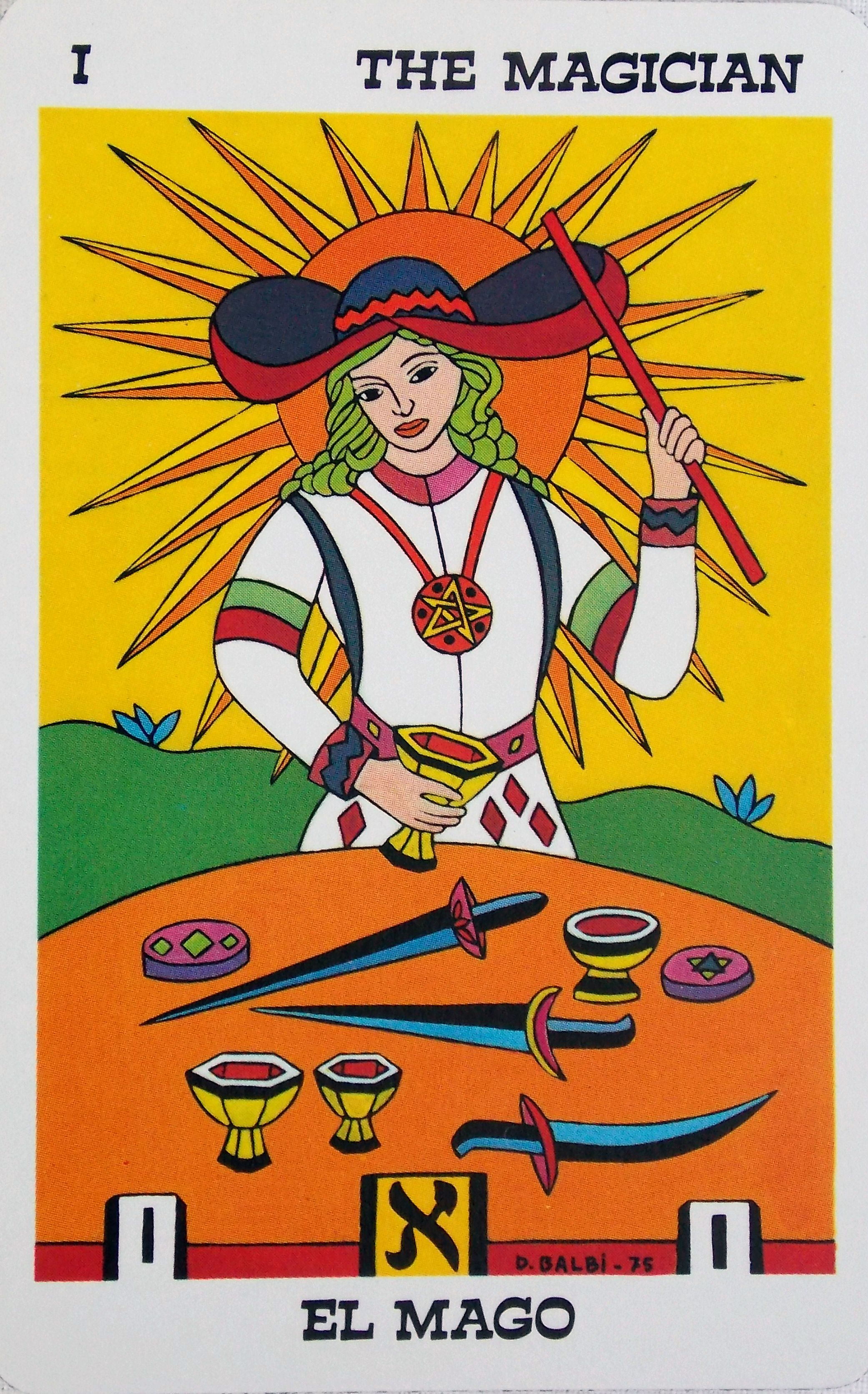 Tarot Balbi 1976 Spain | Spanish tarot decks | The magician tarot