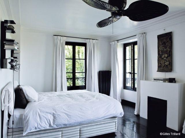 Idees deco chambre noir et blanc | Deco Chambre | Pinterest ...