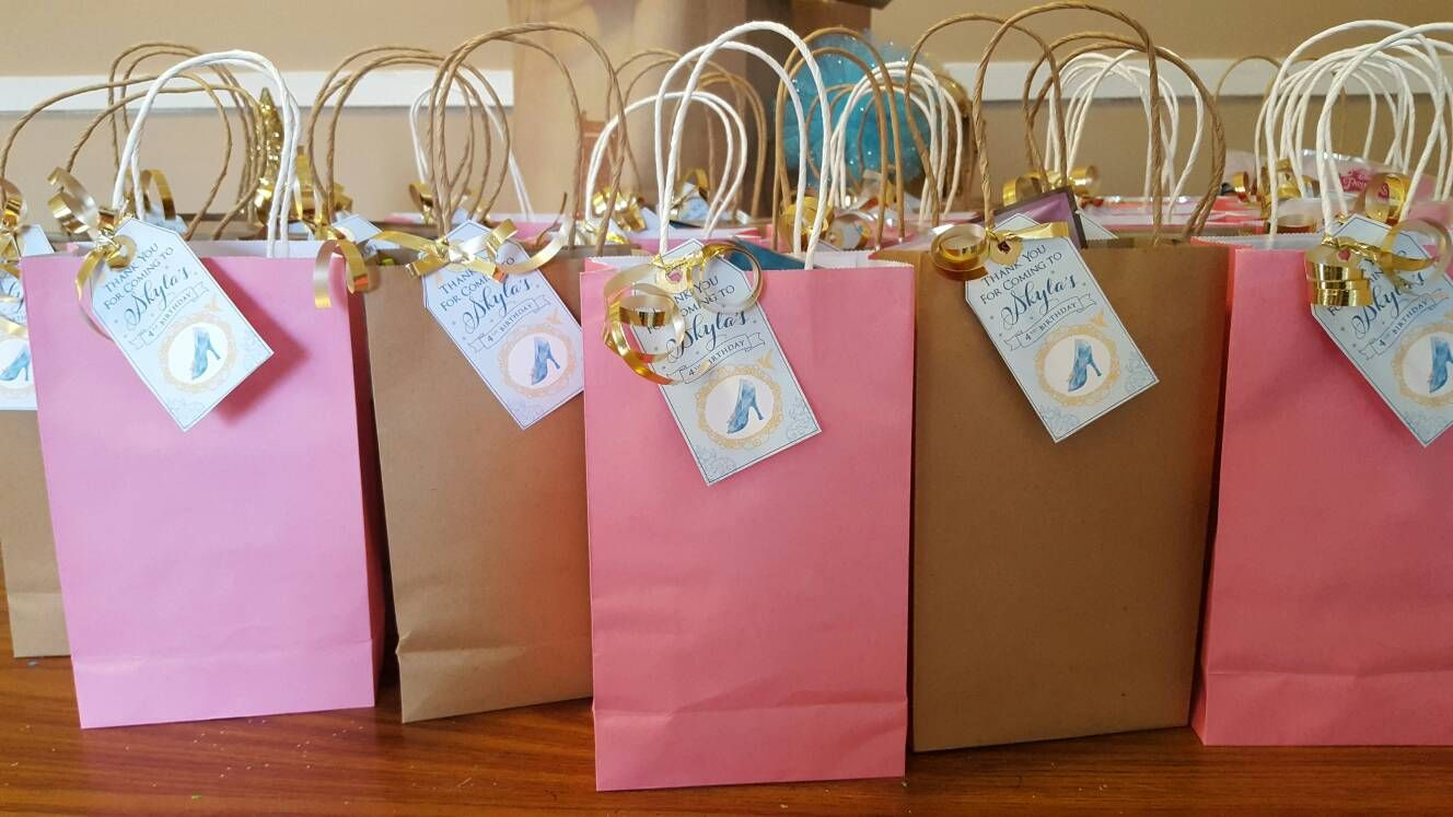 Cinderella Favor Tags for princess birthday   Cinderella Birthday ...