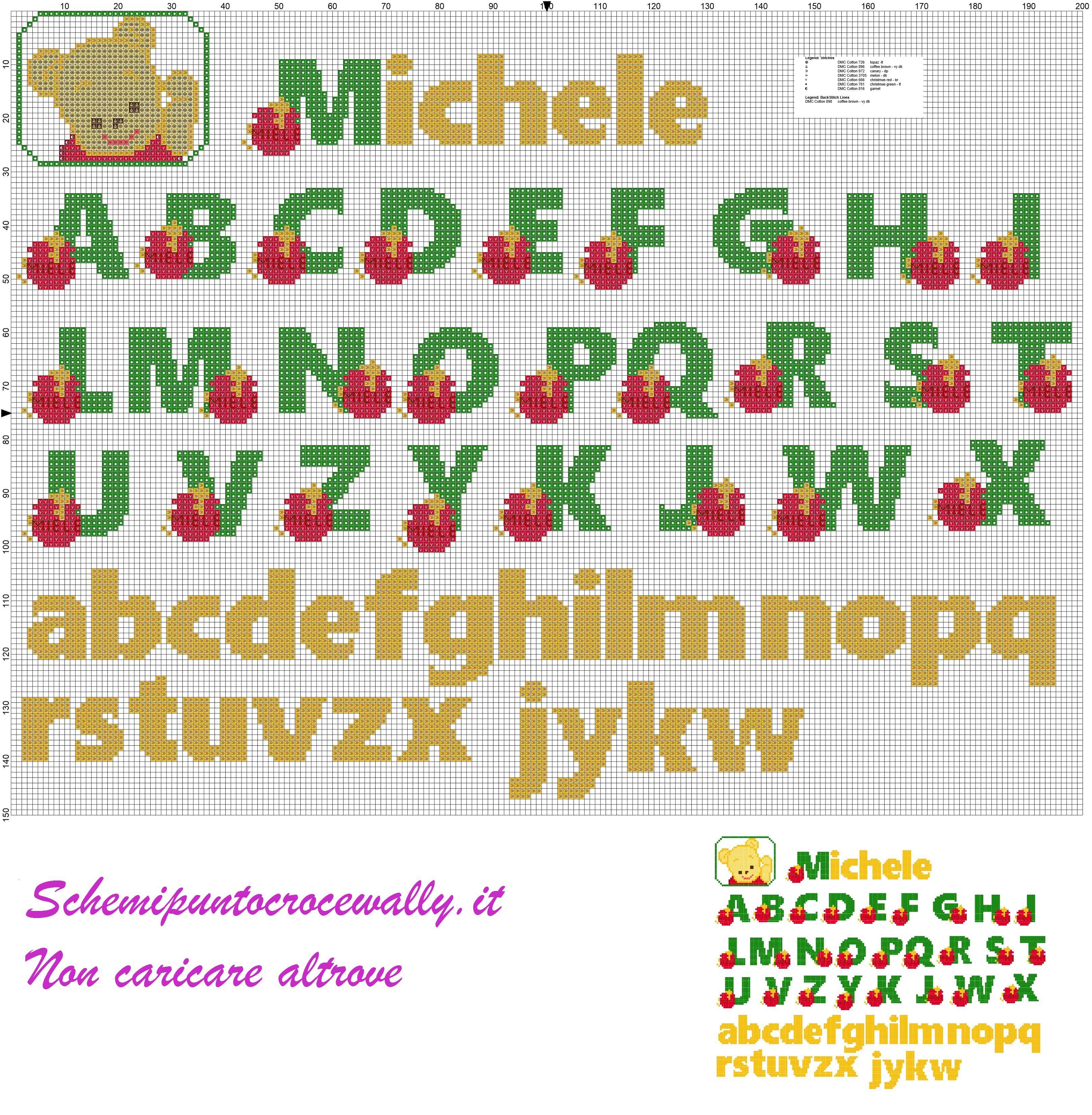 Alfabeto winni con miele schema punto croce gratis nomi for Alfabeto punto croce grande