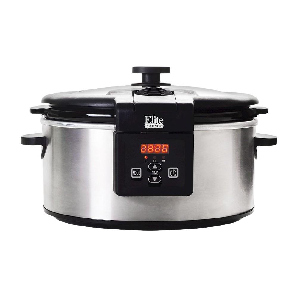 Elite platinum 6 qt programmable slow cooker digital