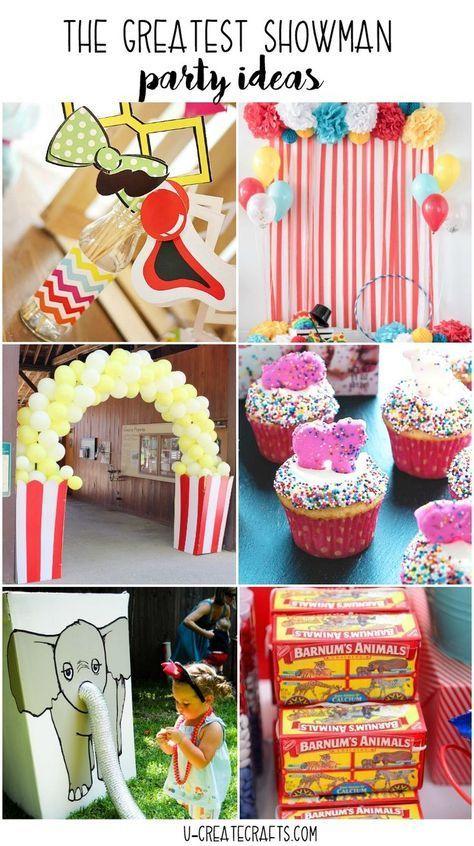 The Greatest Showman birthday party ideas! #thegreatestshowman #circus #carnival #birthdayparties #birthdayparty