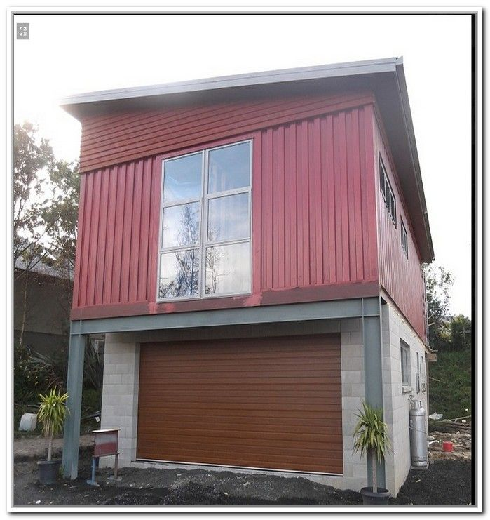 Container home with garage