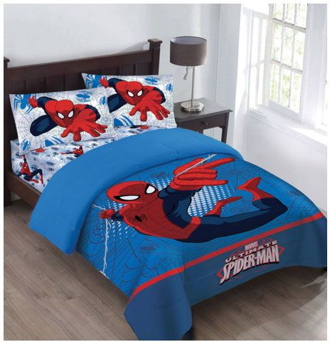 Marvel The Spiderman Webbed Wonder Twin Comforter Set With Fitte Comforter Sets Full Comforter Sets Best Bed Sheets