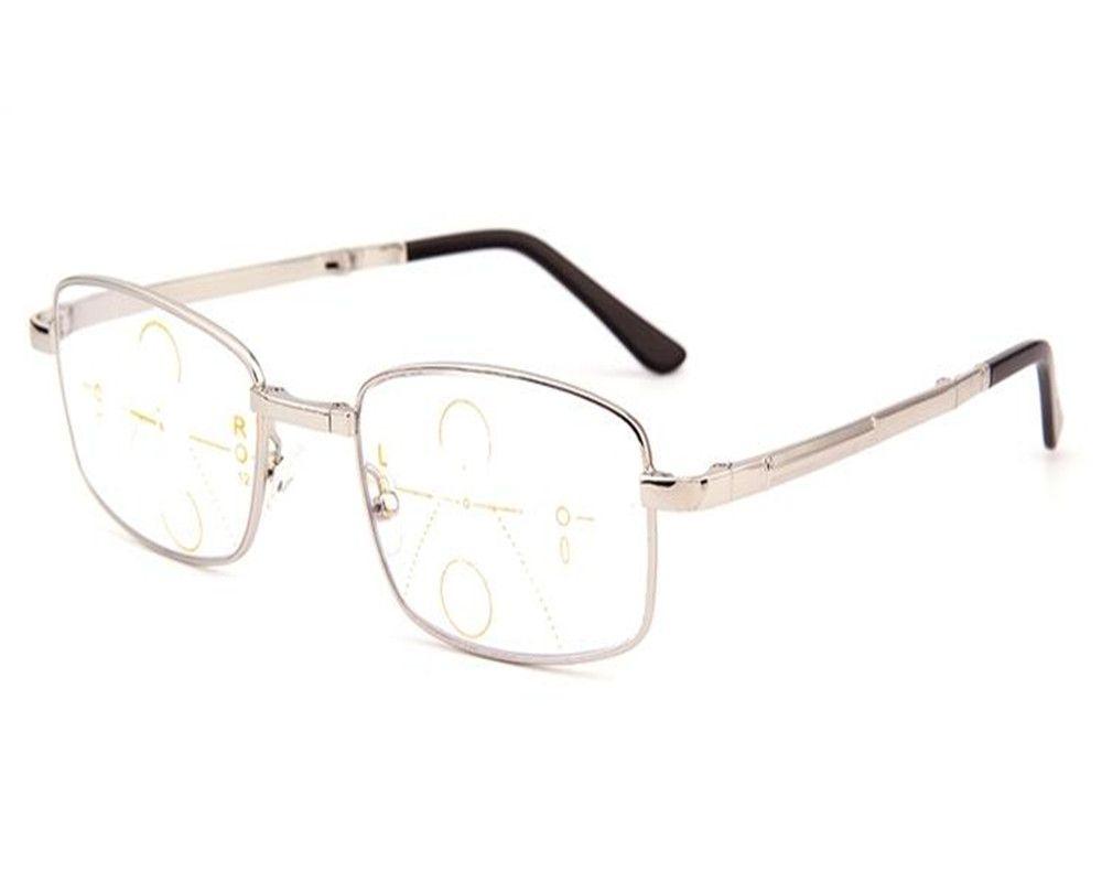Click To Buy Dower Me Light Men Full Rim Foldable Reading Eyeglass Gold Silver Progressive Multi Focal See Reading Eyeglasses Mens Accessories Eyeglasses