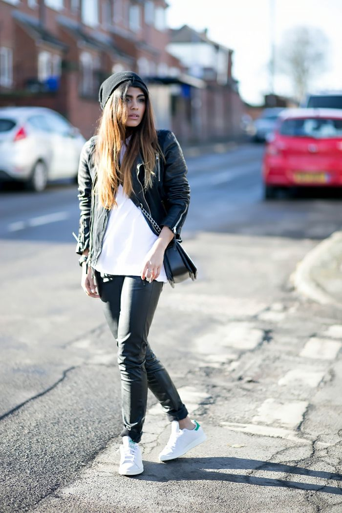 comment porter une veste en cuir noir femme les vestes la mode sont populaires partout dans. Black Bedroom Furniture Sets. Home Design Ideas