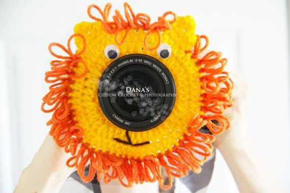 Lion Camera Lens Buddy - Crochet - Handmade - Shutter - Photography - Kids - Children - Toddler - Animal - Cute - Accessory - Yarn - Baby