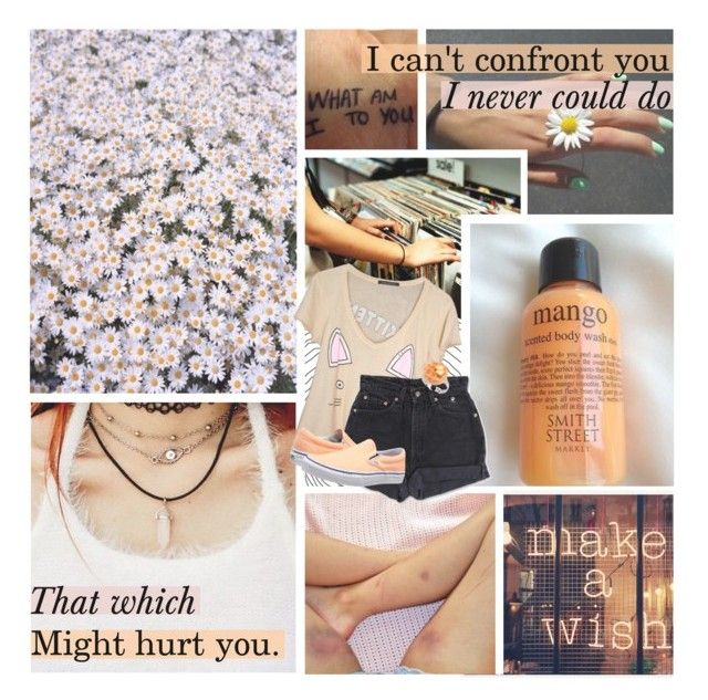 """""""☾✰ Your drug is a heartbreaker."""" by im-a-monster ❤ liked on Polyvore featuring Levi's and Vans"""