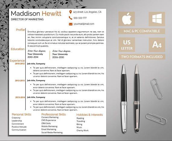 Professional Resume Template Word Resume Resume Template Pin - it professional resume template word