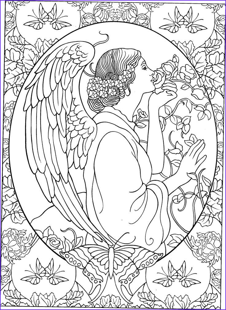 15 Best Of Angel Coloring Book Photos In 2020 Angel Coloring Pages Fairy Coloring Pages Christian Coloring