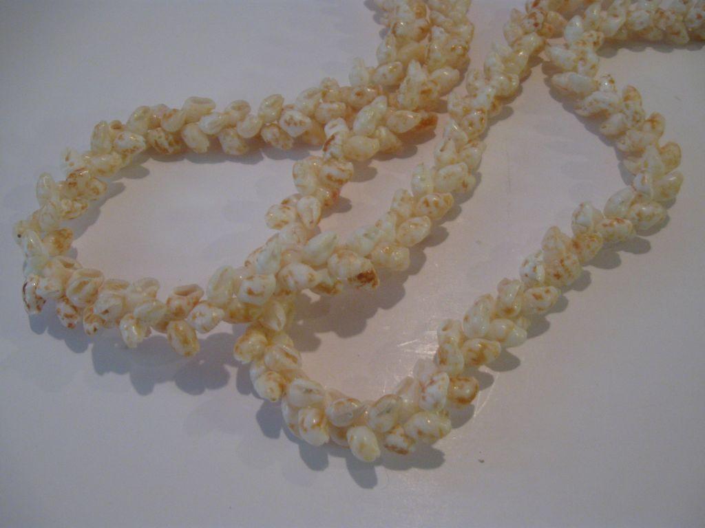 Vintage Rare Niihau Shell Pikake Style Necklace Lei Hawaii