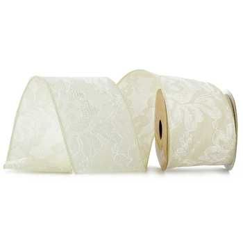 2 1 Satin Lace Wired Edge Ribbon Wedding Carswedding