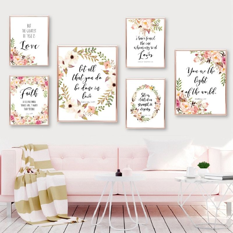 Posters And Prints Bible Verse Canvas Painting Poster Christian Wall Art Inspirational Quote Pictures Christian Wall Art Bible Verse Canvas Baby Room Wall Art