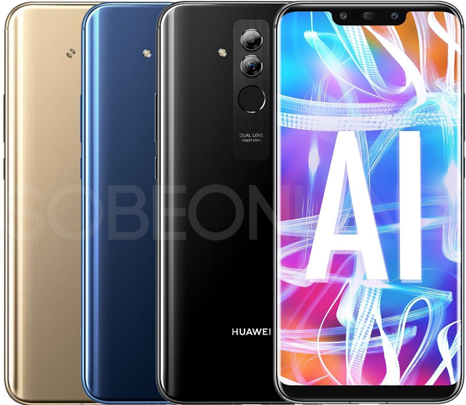 Cell Phones And Smartphones 9355 New Huawei Mate 20 Lite Lx3 64gb Factory Unlocked Gsm 6 3 International Model Buy It Now Phone Smartphones For Sale 64gb