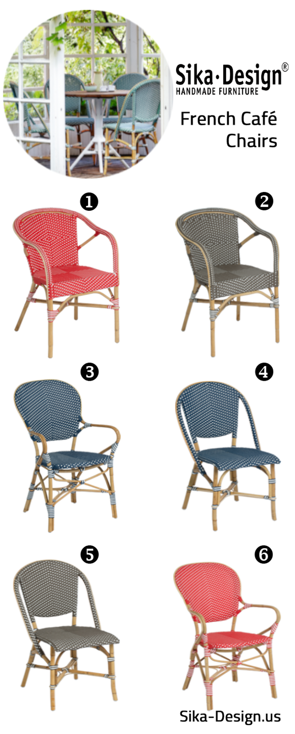 Sika Design Outdoor French Bistro Chairs Wonderful Rattan French