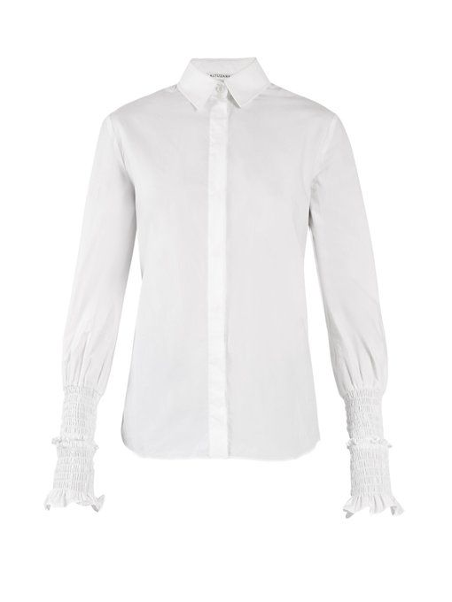 Jorda Smocked Cuff Shirt Altuzarra 2018 New For Sale Latest Inexpensive Buy Cheap Best Wholesale Free Shipping Find Great ZIemg