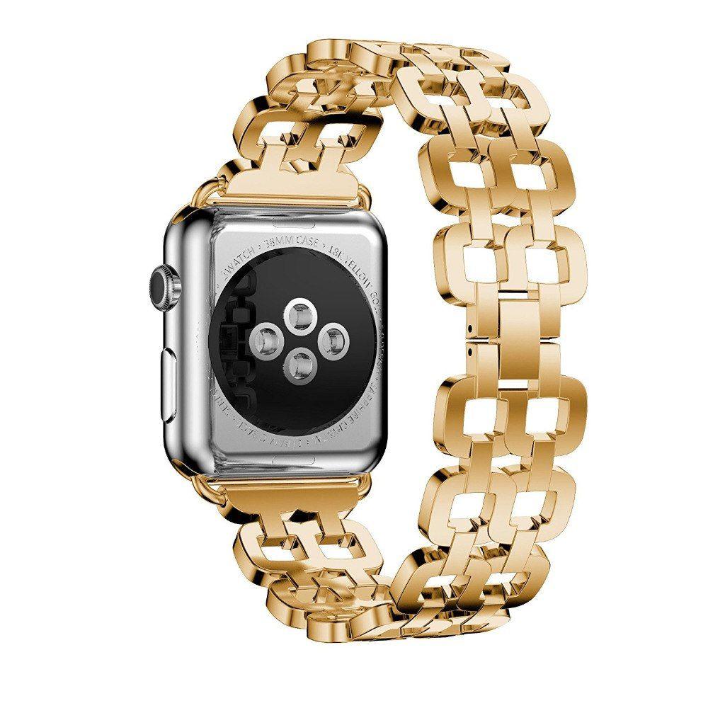 Apple Watch Series 5 4 3 2 Band, Luxury Metal Strap