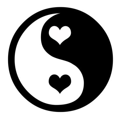 Feminine Yin Yang Tattoo | White And Black Ink Yin Yang Symbol Tattoo Design