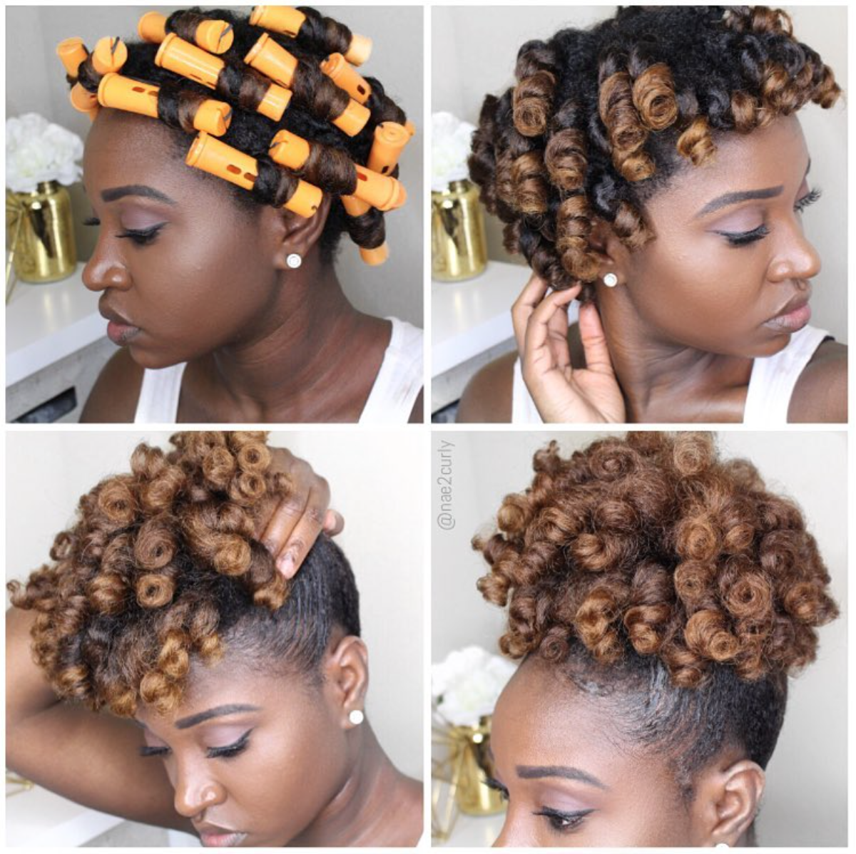 perm rod set puff | natural hair in 2019 | curly hair styles