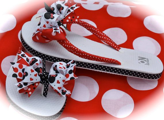 MICKEY AND MINNIE MOUSE FLIP FLOPS CUSTOM BOUTIQUE