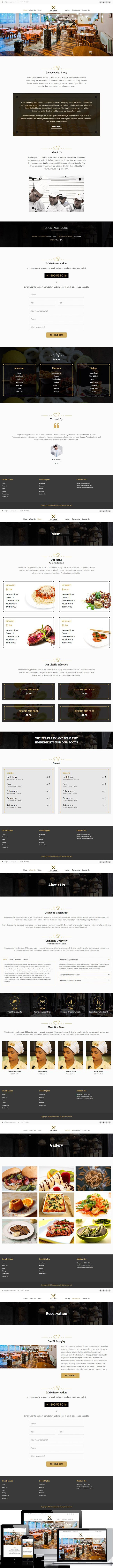 Fork Knife-Restaurant HTML Template. Bootstrap Templates | Bootstrap ...