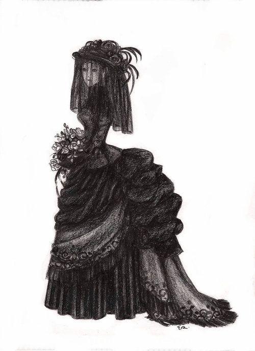 gothic victorian fashion dress black dark goth gothic