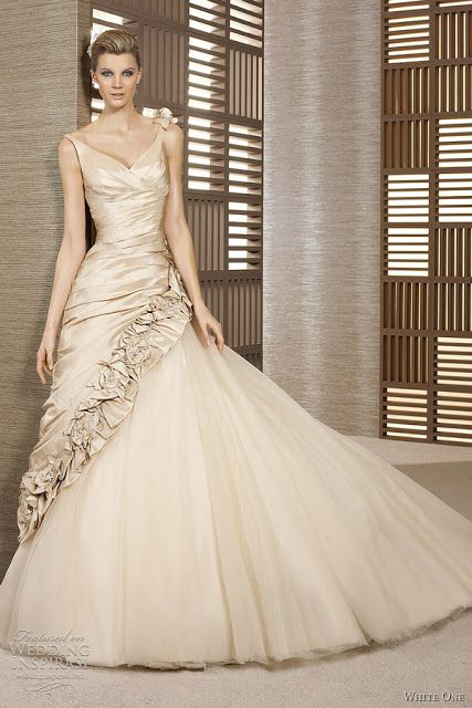 vestidos de novia color champagne | wedd | pinterest | wedding dress