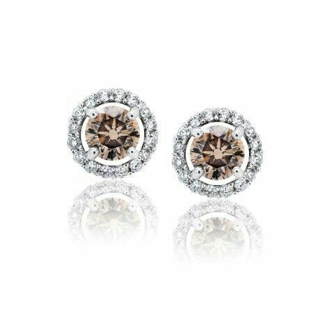 Clic Chocolate Diamond Studs