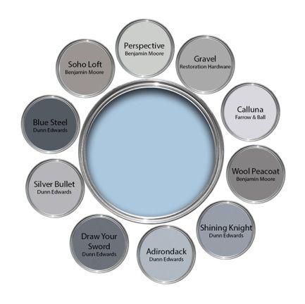 Jeremiah B Design Powder Blue With Grays