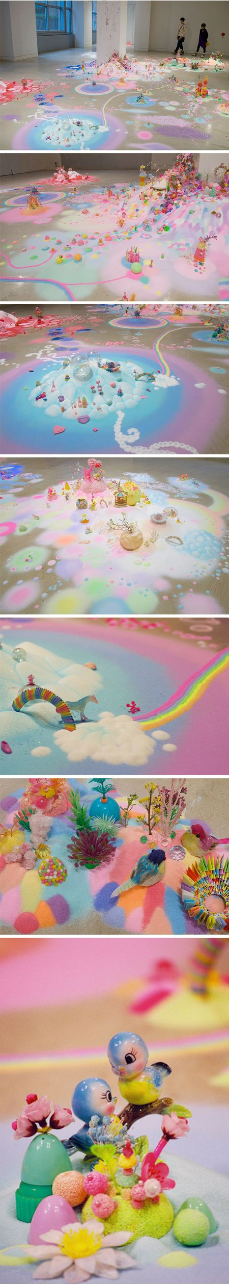 """Art ::: Magical installation piece titled """"Under the Crystal Sky"""" by pip & pop aka Tanya Schultz and Nicole Andrijevic 와 너무이뻐 이런세계관 ㅠ 이게바로 캔디아일랜드일까"""