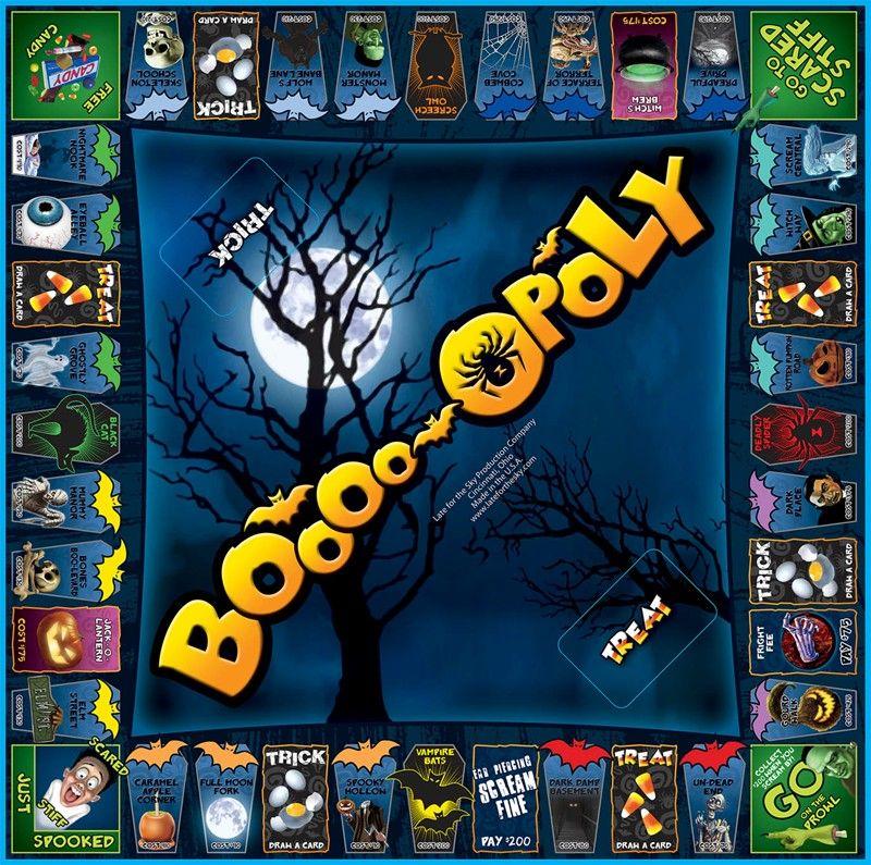 BOOOPOLY Game board Halloween games, Fun halloween games