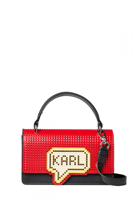 Karl Lagerfeld Damen K Pixel Schultertache Small Rot Sailerstyle Karl Lagerfeld Taschen Karl Lagerfeld Modedesign