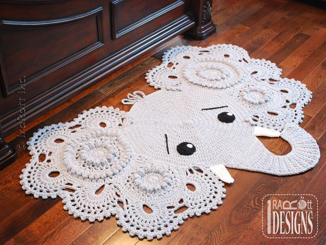 Josefina and Jeffery Elephant Rug PDF Crochet Pattern | Crochet and ...